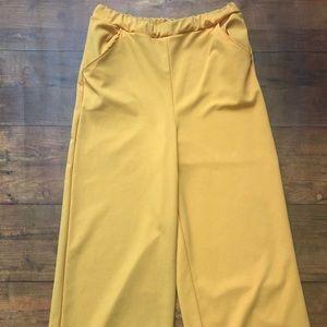 Mustard Wide Leg Trousers